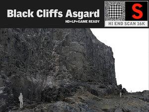 3d max black cliffs 16k