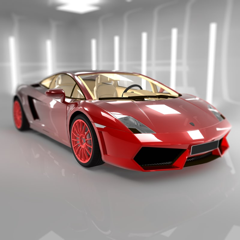 lamborghini gallardo sport luxury 3d 3ds