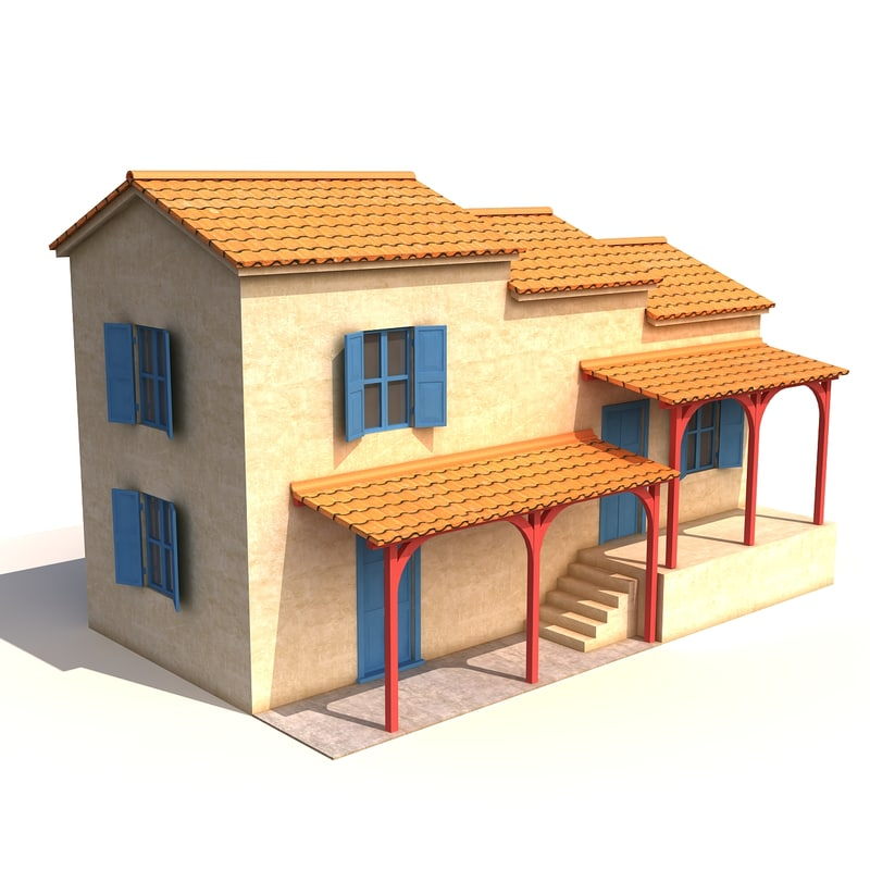 greek house 3d model