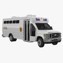prison bus 3D models