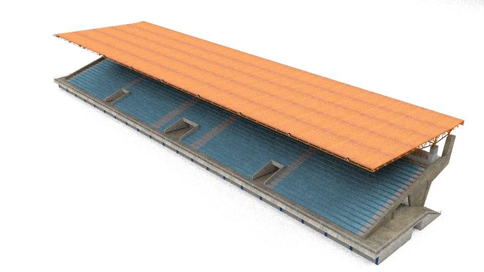 3d model fan grandstand