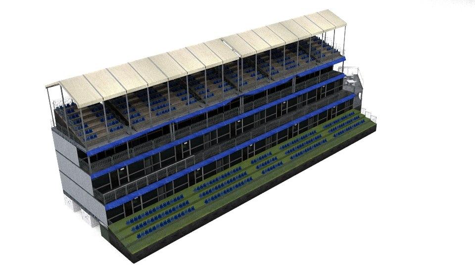 fan grandstand 3d x