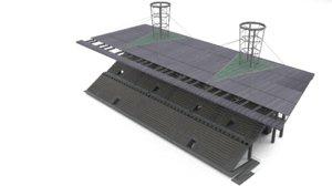 fan grandstand 3d model