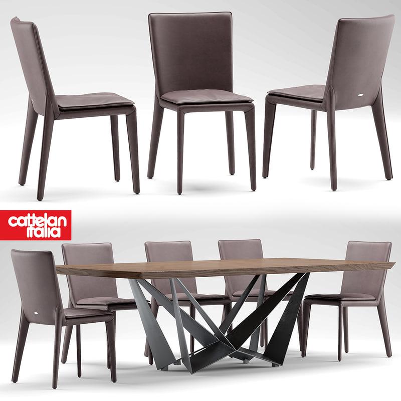 table cattelan italia 3d model