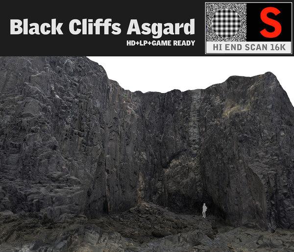 3d black cliffs 16k