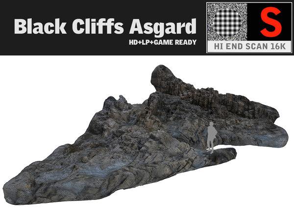 3d model black cliffs 16k