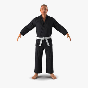 karate fighter black suit max