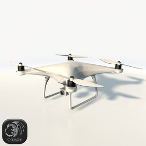 dji phantom 4 quadcopter 3d max