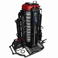 Sci Fi City Building Game Asset 05 - VR AR Sci-Fi Pro Model