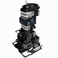 Sci Fi City Building Game Asset 03 - VR AR Sci-Fi Pro Model