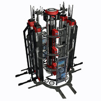 Sci Fi City Building Game Asset 01 - VR AR Sci-Fi Pro Model