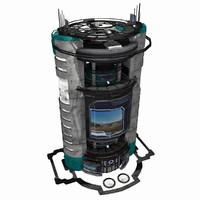 Sci Fi City Building Game Asset 07 - VR AR Sci-Fi Pro Model