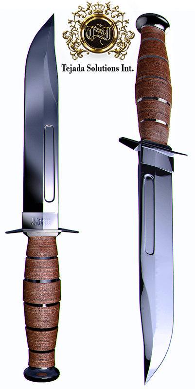 3d knife military bar
