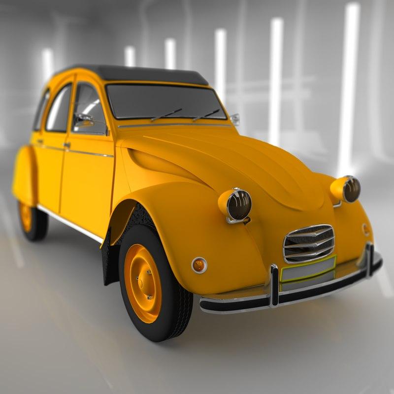 c4d citroen 1940 yellow