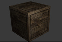 wood wooden crate 3ds