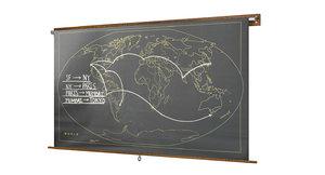 3d model of restoration hardware military chalkboard