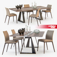 Cattelan Italia RIVER table ARCADIA chair