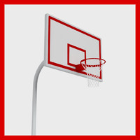basketball rim ball 3d max