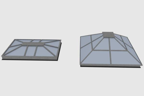 rooftop skylight obj