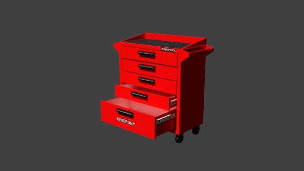 3d service station cupboard model