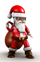 santa claus cartoon 3d model