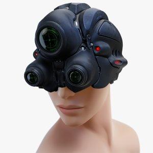 3d model sci-fi helmet 2