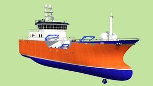 3d model boat wellboat