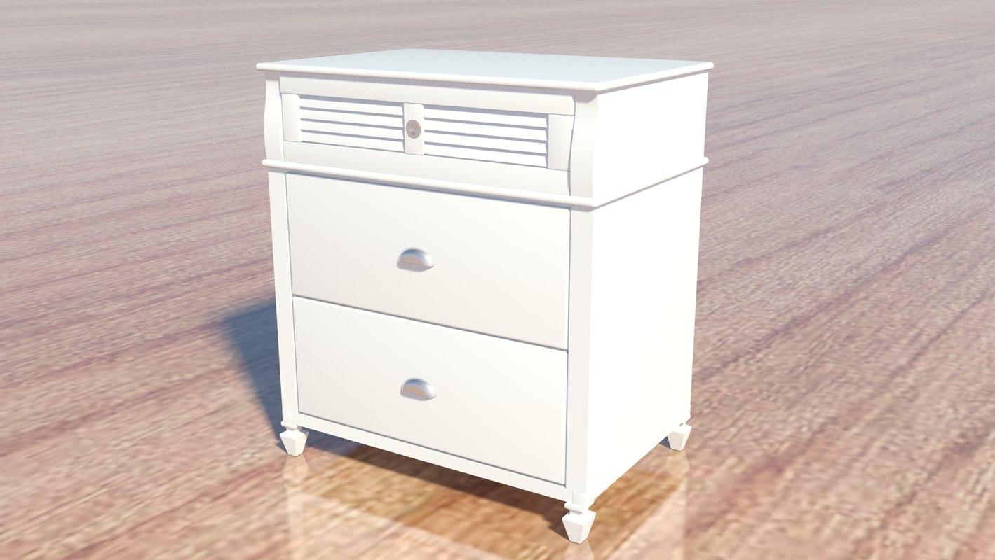 3d nightstand charlston bay model