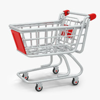 3d model cartoon shopping cart