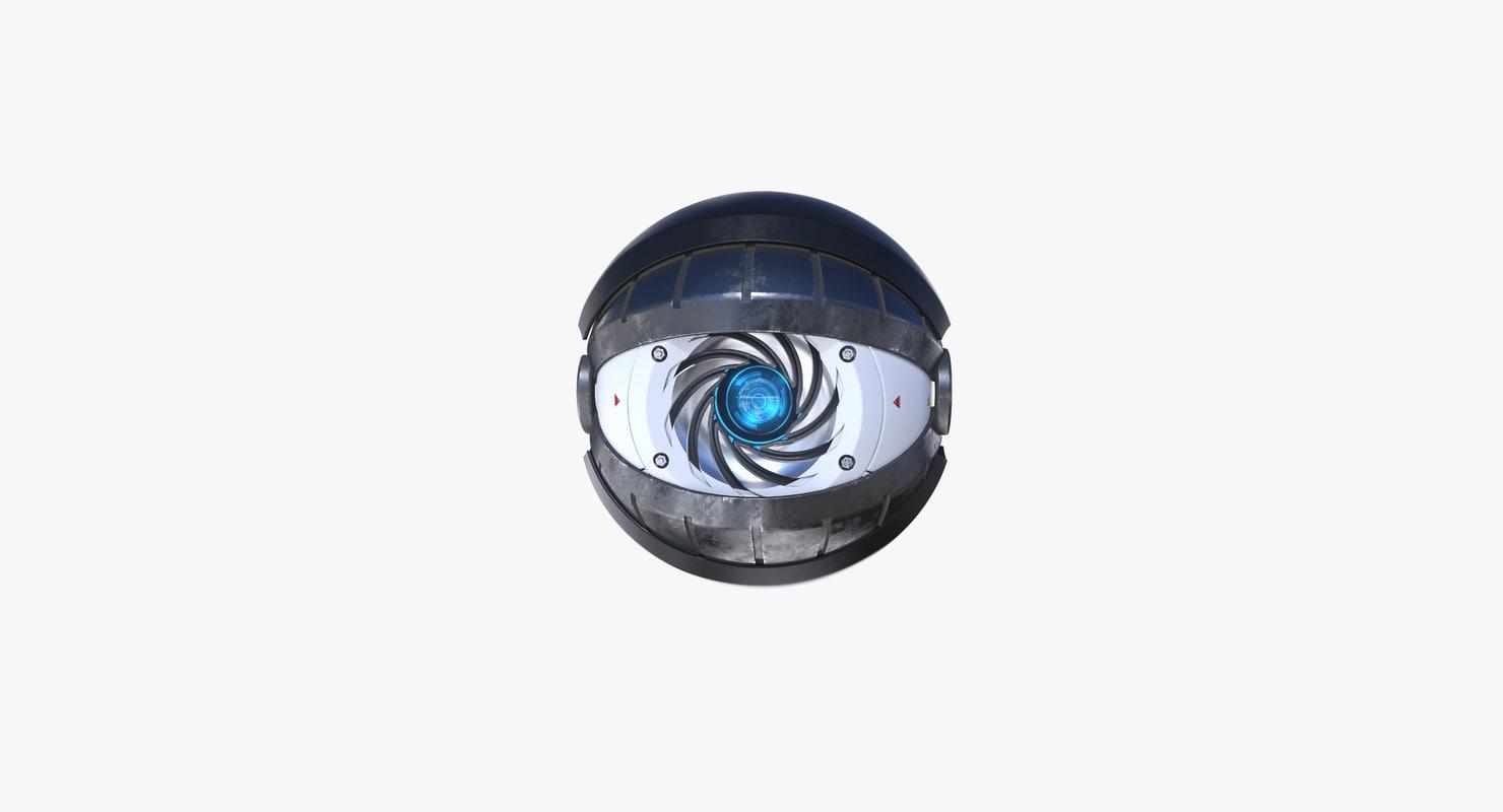 futuristic eye iris 3d max