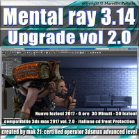 Mental Ray 3.14 3ds max 2017 Vol.2 Rendering Upgrade cd front
