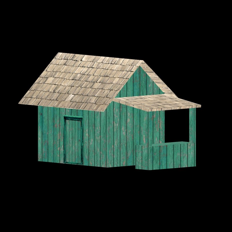 house shack wood 3ds
