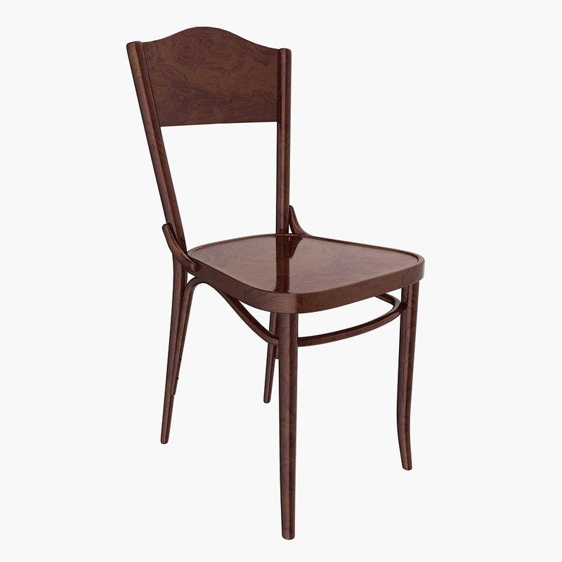 3d bentwood chair