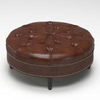 Vintage Large Round Ottoman