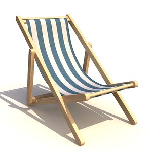 3d deck chair model