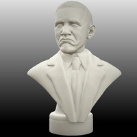 3d model portrait obama bad meme