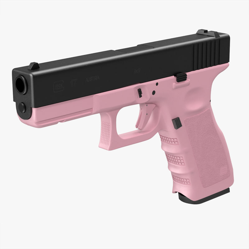 3d model glock 17 pink