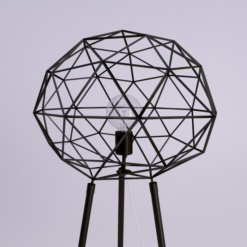 3d modern lamp diamond shape model