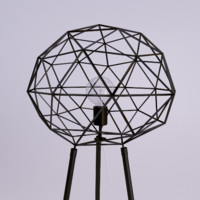 3d modern lamp diamond shape model