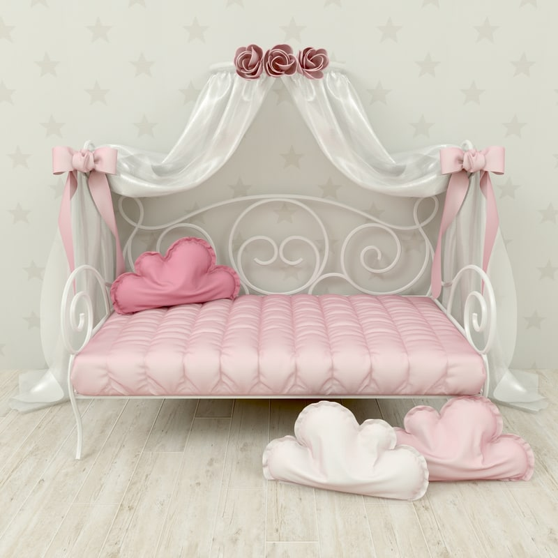 3d girl bed