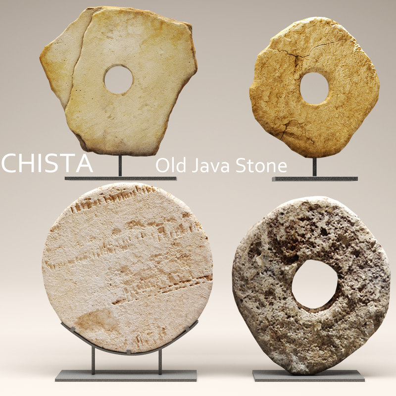 3d chista old stone model