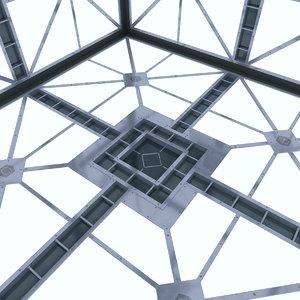 3d model of sci fi room hypercube