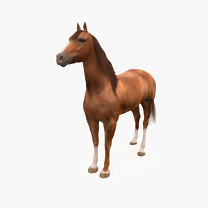 3d horse don chestnut