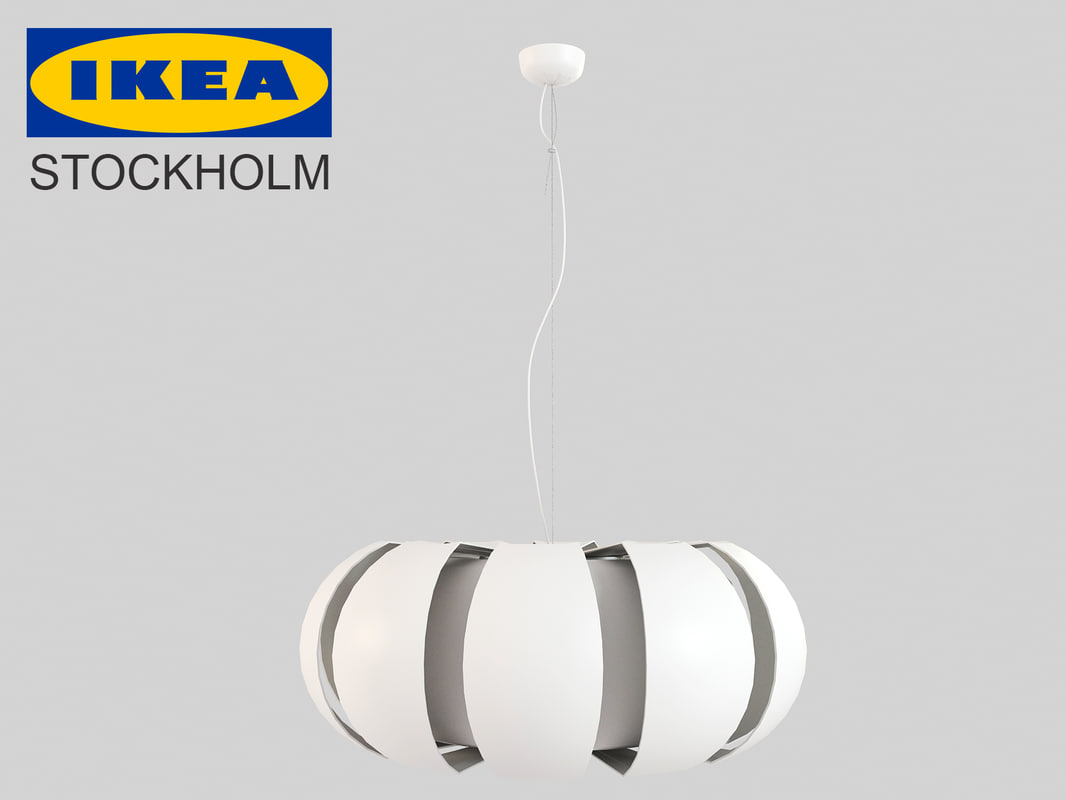 ikea stockholm lamp 3d max. Black Bedroom Furniture Sets. Home Design Ideas