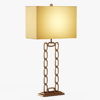 3d chain table lamp model