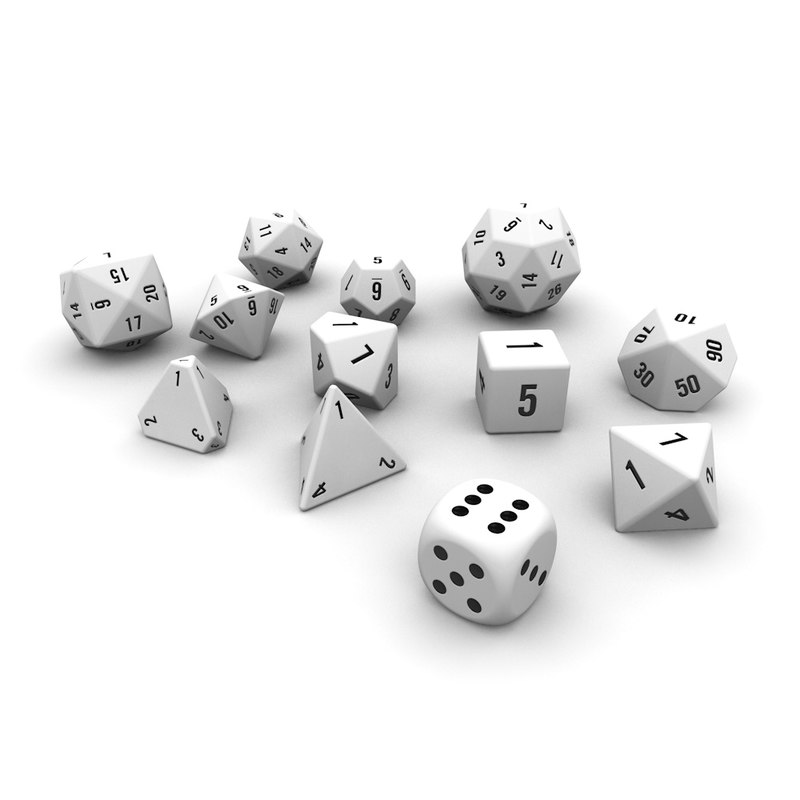 3ds polyhedral dice set -