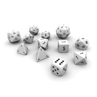 Polyhedral Dice Set - White