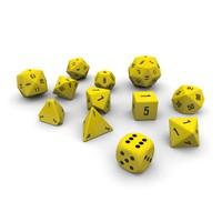 Polyhedral Dice Set - Yellow