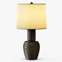 ribbed copper table lamp 3d model