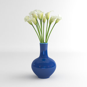 3d calla lily flower